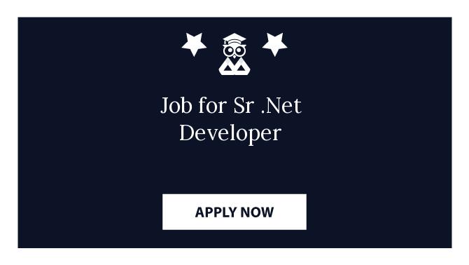 Job for Sr .Net Developer