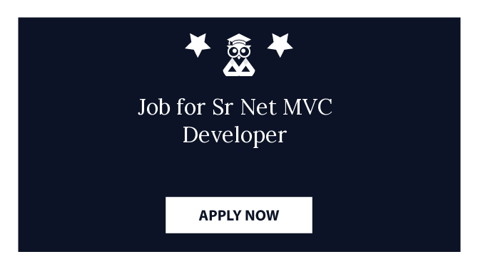 Job for Sr Net MVC Developer