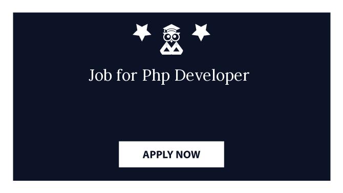 Job for Php Developer