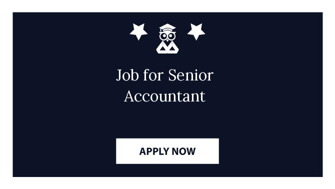 Job for Senior Accountant