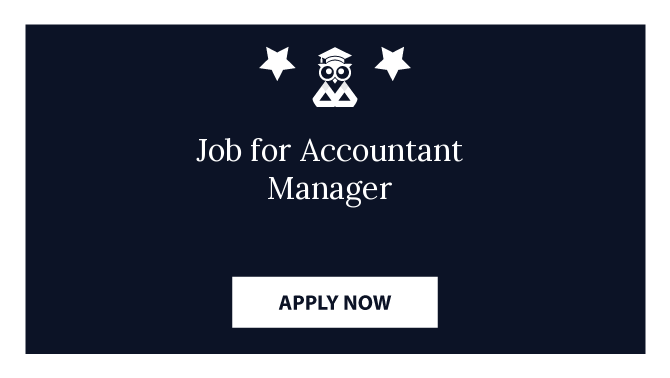 Job for Accountant Manager
