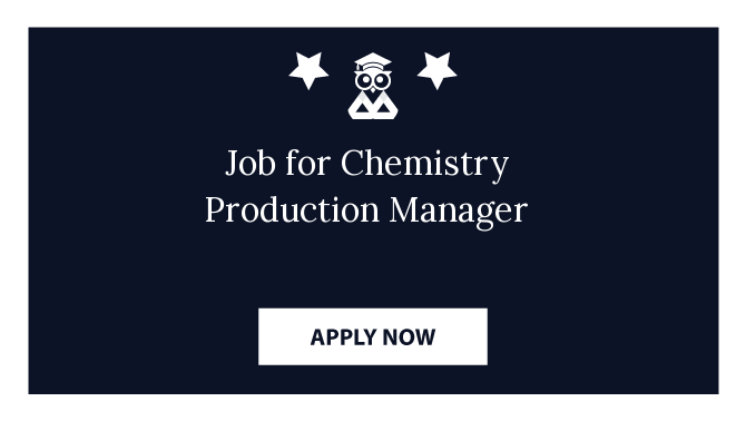 Job for Chemistry Production Manager