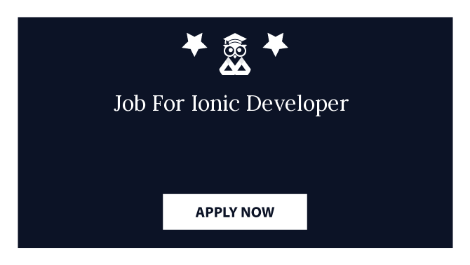 Job For Ionic Developer