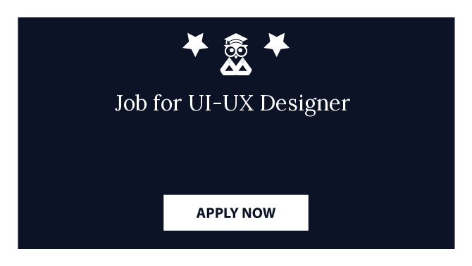 Job for UI-UX Designer