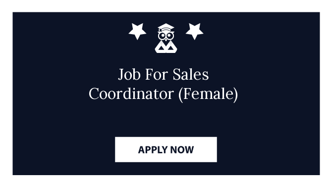 Job For Sales Coordinator (Female)