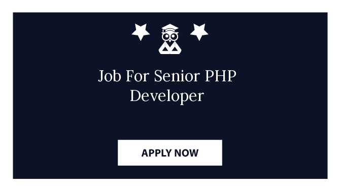 Job For Senior PHP Developer