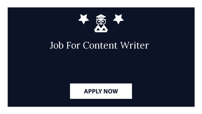 Job For Content Writer