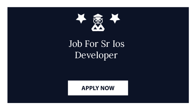 Job For Sr Ios Developer