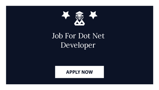 Job For Dot Net Developer