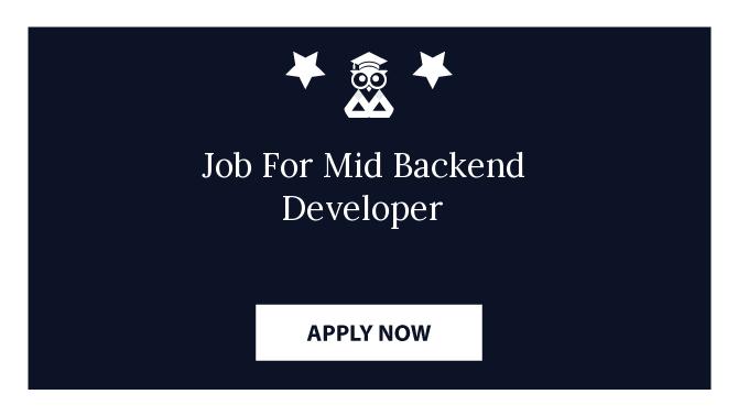 Job For Mid Backend Developer