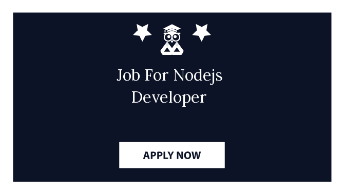 Job For Nodejs Developer
