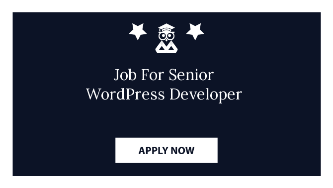 Job For Senior WordPress Developer