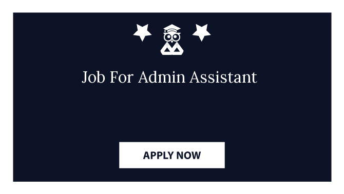 Job For Admin Assistant
