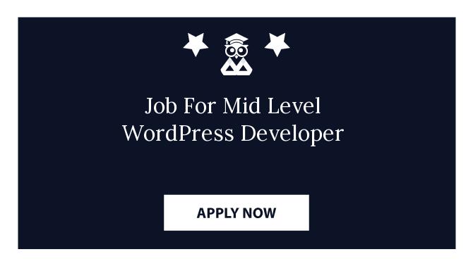 Job For Mid Level WordPress Developer