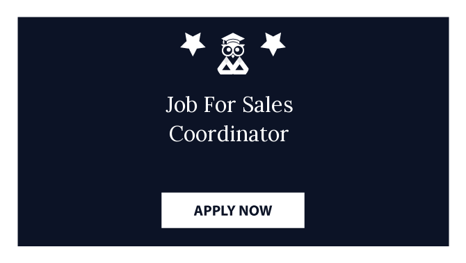 Job For Sales Coordinator