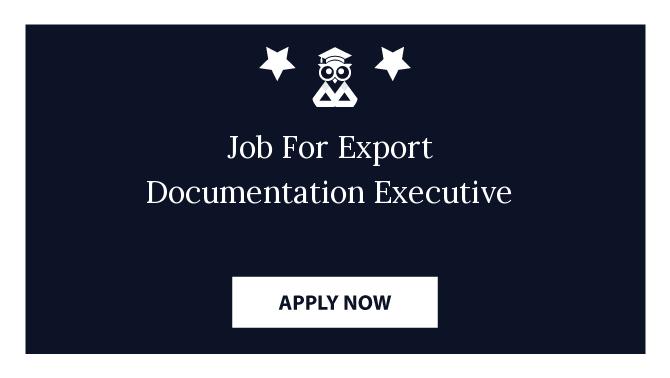 Job For Export Documentation Executive