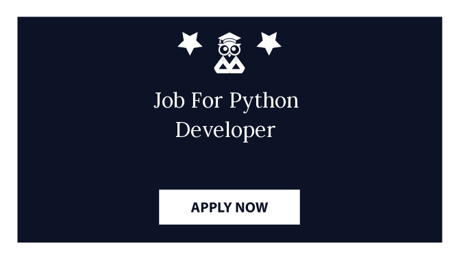 Job For Python Developer