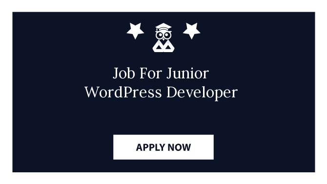 Job For Junior WordPress Developer