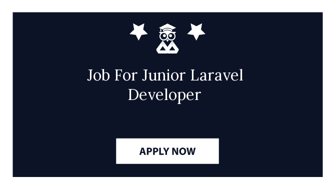 Job For Junior Laravel Developer