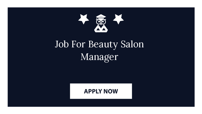 Job For Beauty Salon Manager