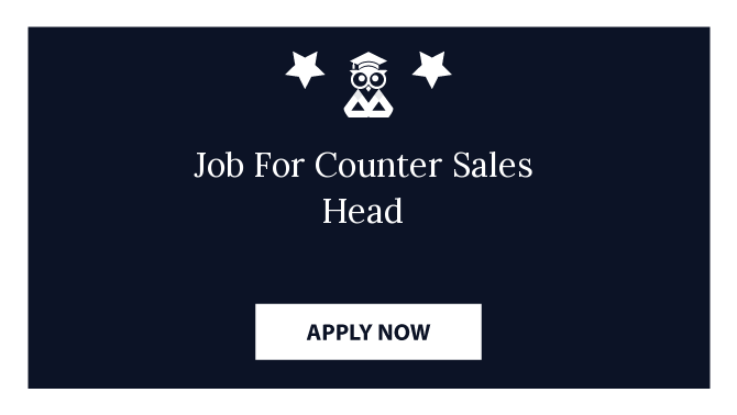 Job For Counter Sales Head