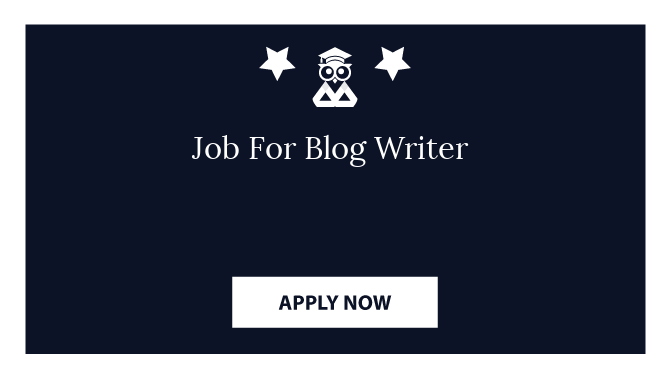 Job For Blog Writer