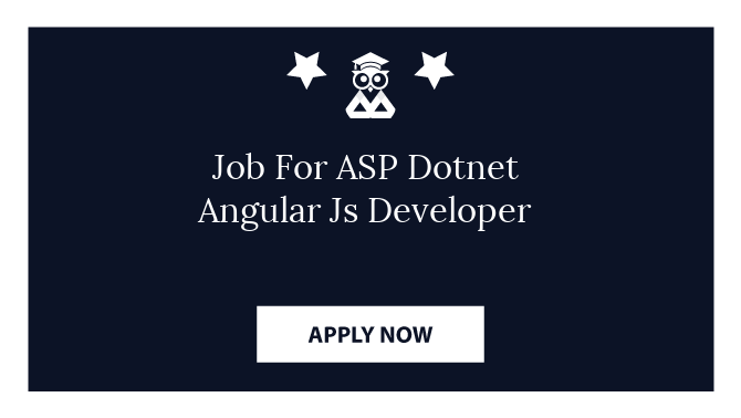 Job For ASP Dotnet Angular Js Developer