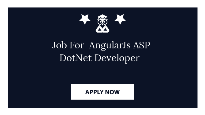 Job For  AngularJs ASP DotNet Developer