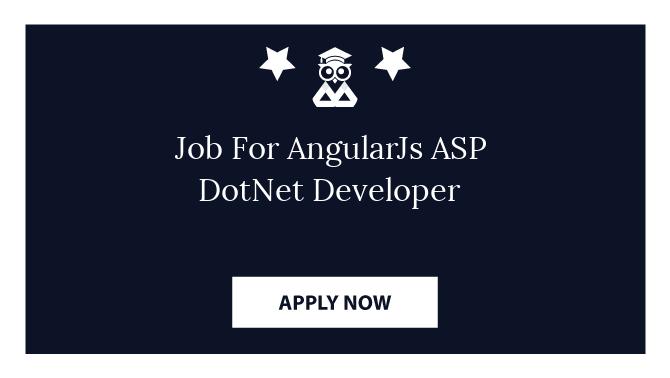 Job For AngularJs ASP DotNet Developer