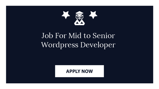 Job For Mid to Senior Wordpress Developer