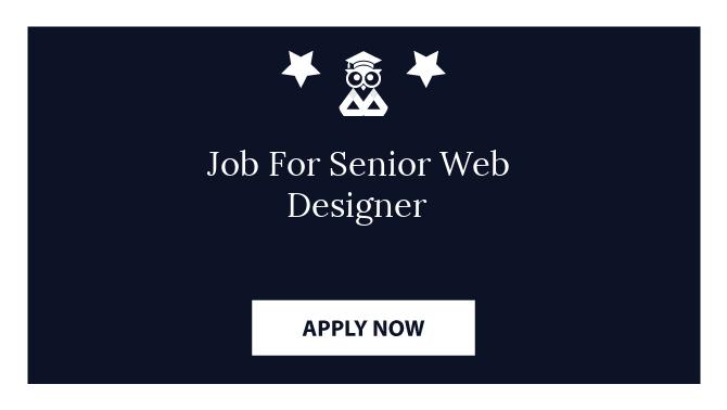 Job For Senior Web Designer