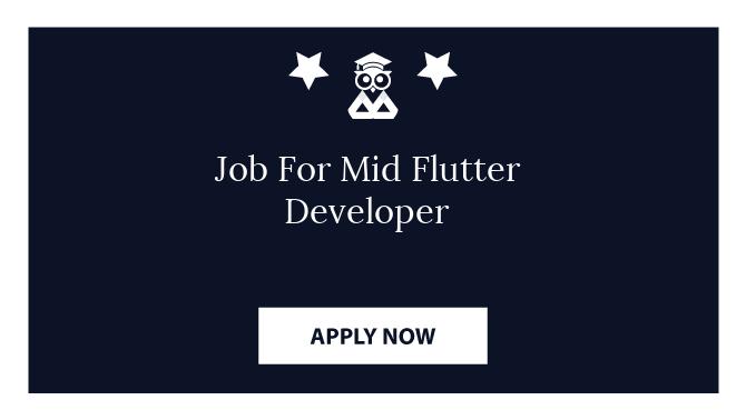 Job For Mid Flutter Developer