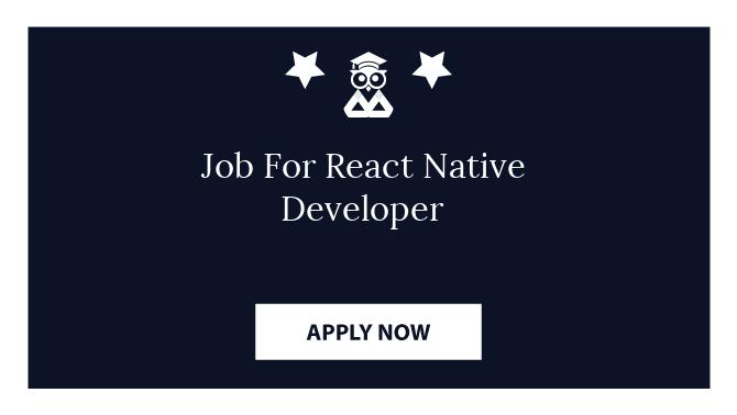 Job For React Native Developer