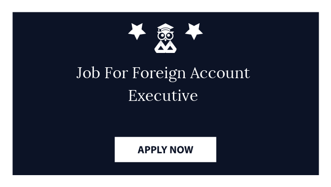 Job For Foreign Account Executive