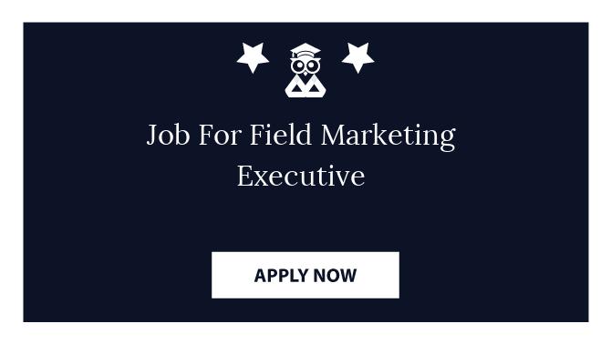 Job For Field Marketing Executive