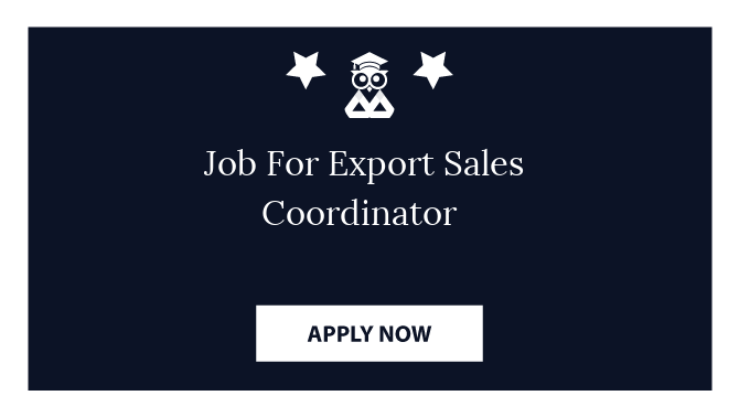 Job For Export Sales Coordinator