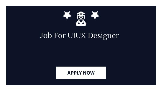 Job For UIUX Designer