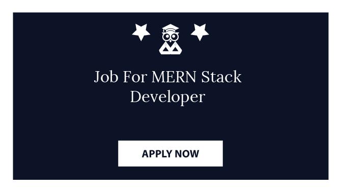 Job For MERN Stack Developer