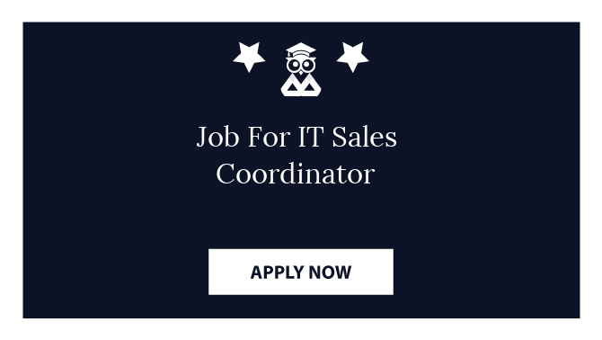 Job For IT Sales Coordinator