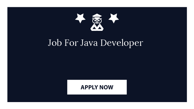 Job For Java Developer