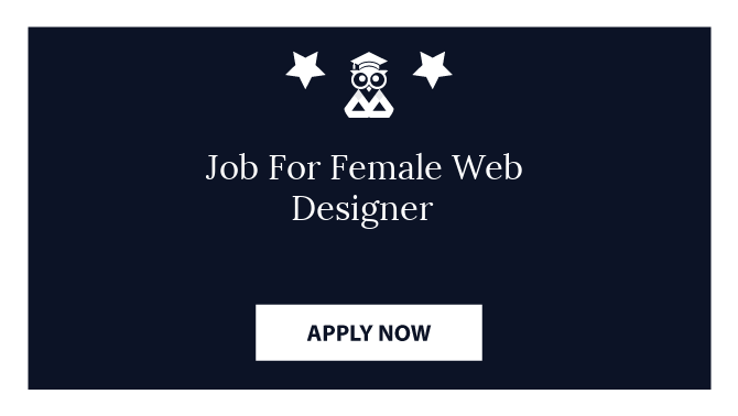 Job For Female Web Designer
