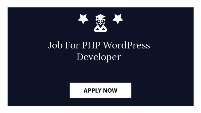 Job For PHP WordPress Developer