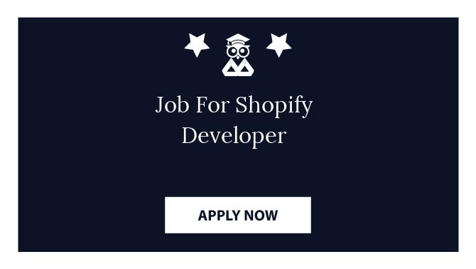 Job For Shopify Developer