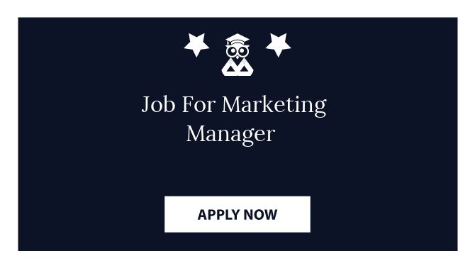 Job For Marketing Manager