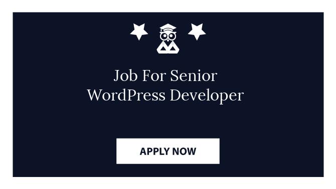 Job For Senior WordPress Developer