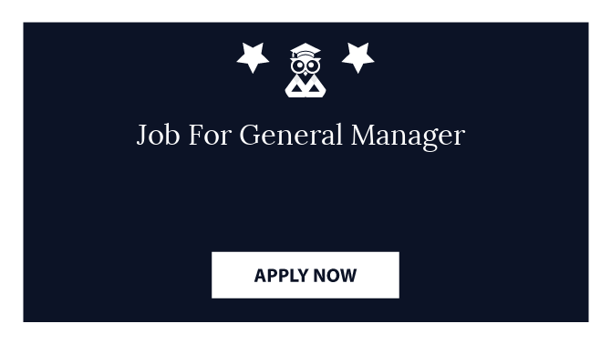 Job For General Manager