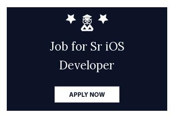 Job for Sr iOS Developer