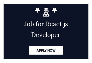 Job for React js Developer