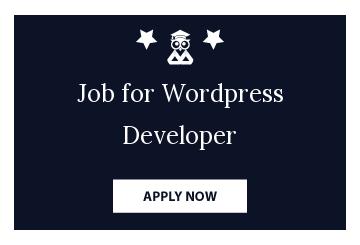 Job for Wordpress Developer