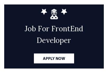Job For FrontEnd Developer